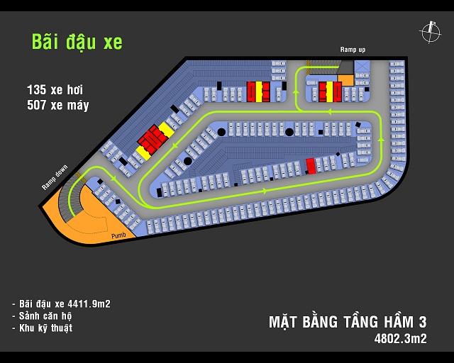 Tầng Hầm 3 Charmington Plaza Quận 5