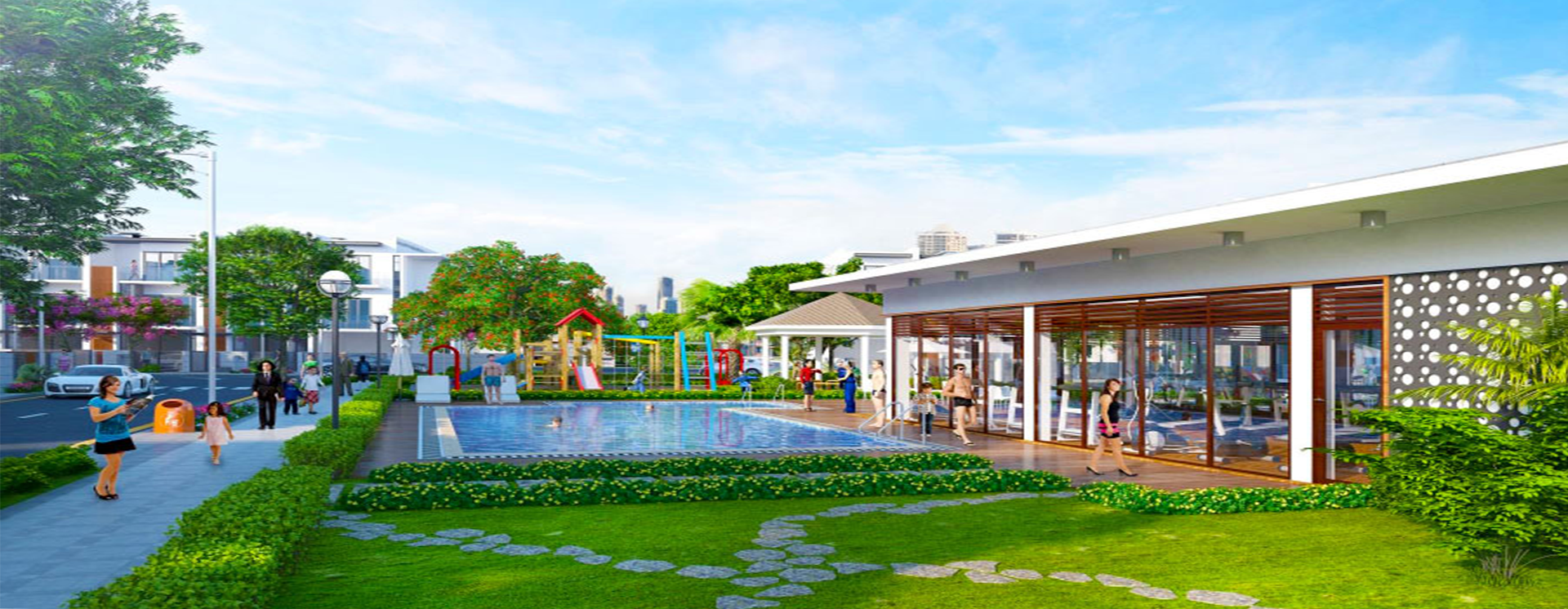 Tiện ích khu dự án Golf Park Novaland