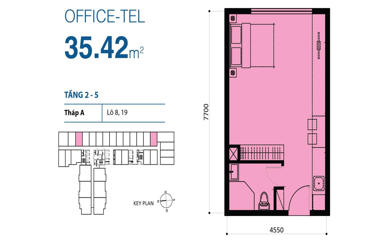 office-tel 35,42m2