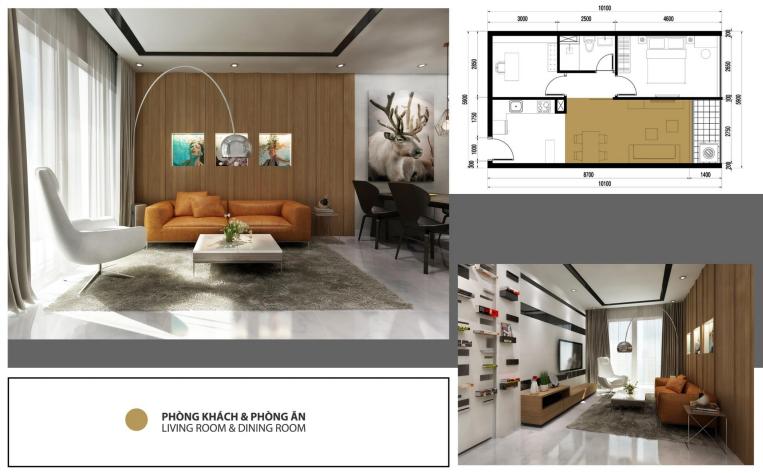 Thiết kế căn hộ 1+1 PN