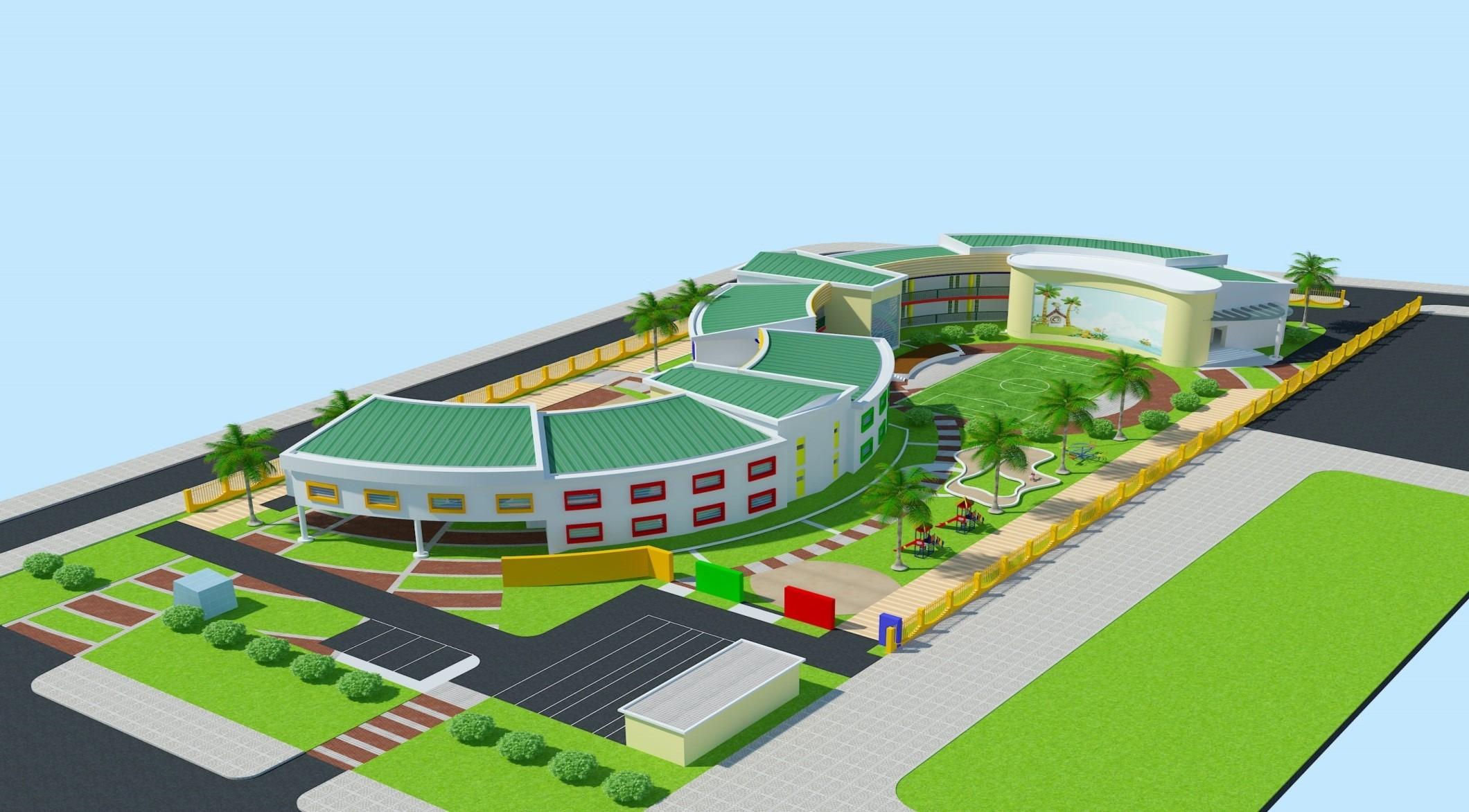 Phối cảnh khu trường học Celadon Tân Phú