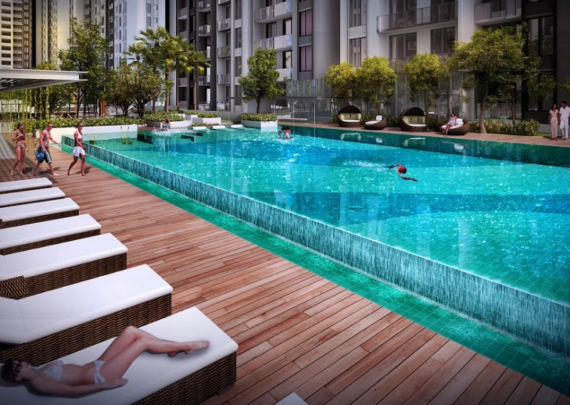 Bể bơi căn hộ cao cấp The Century Quận 3