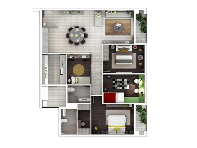 Phòng ngủ căn hộ cao cấp Lexington Residence Quận 2