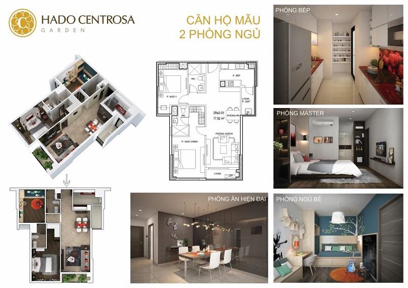 Căn hộ Hà Đô Centrosa 2 Phòng Ngủ
