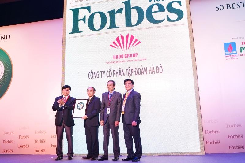 Chủ đầu tư Hà Đô Centrosa lọt top TOP 50 DN Việt Nam năm 2014 của Forbes