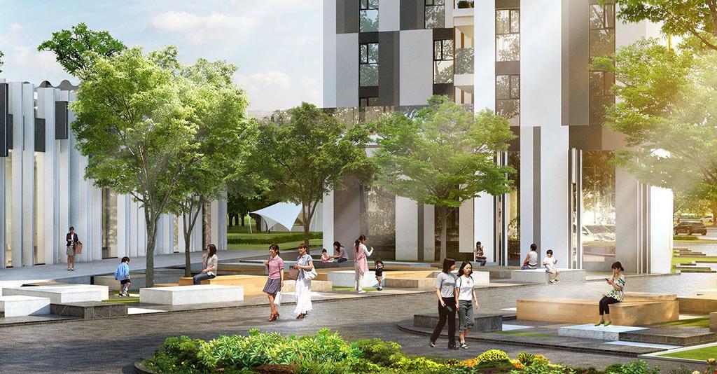 Khuôn viên xanh dự án Sài Gòn Mê Linh Tower