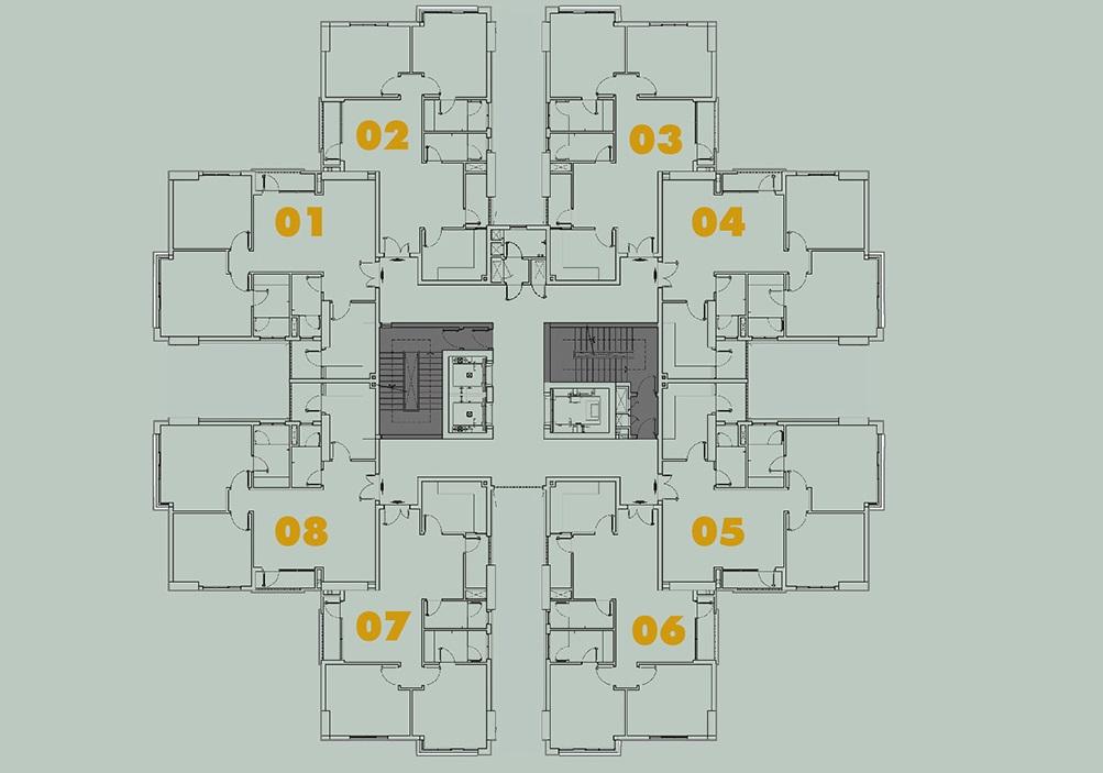 Mặt bằng căn hộ HimLam Chợ Lớn