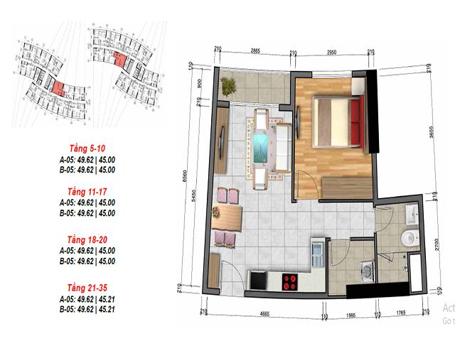 Vị trí và thiết kế mặt bằng căn hộ 3 Diamond City quận 7