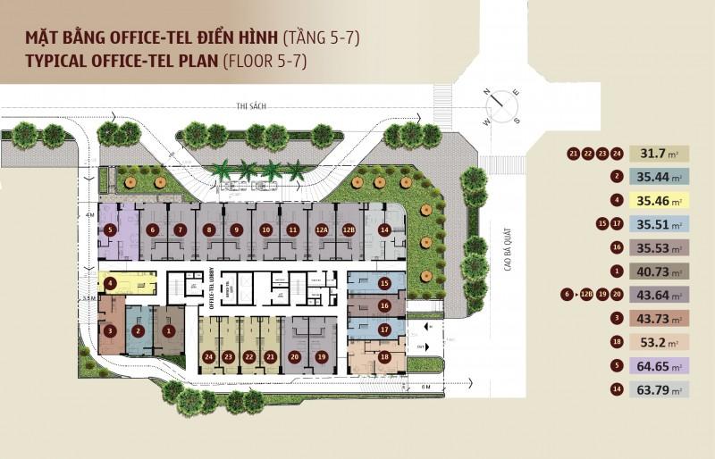 Tổng quan dự án căn hộ Madison(tầng 5-7)