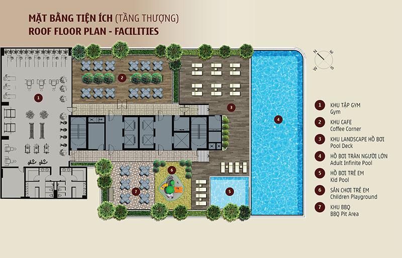 Tổng quan dự án căn hộ Madison quận 1(sân thượng)