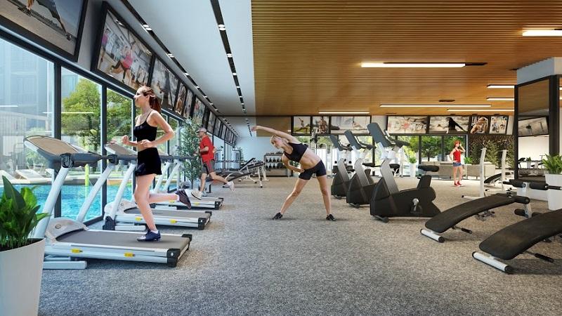 Phòng gym căn hộ cao cấp The Century Quận 3
