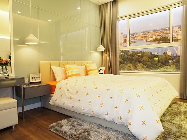 Phòng ngủ Sunrise riverside rất độc đáo