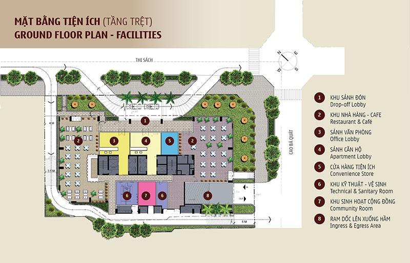 Tồng quan dự án căn hộ Madison quận 1(tầng trệt)