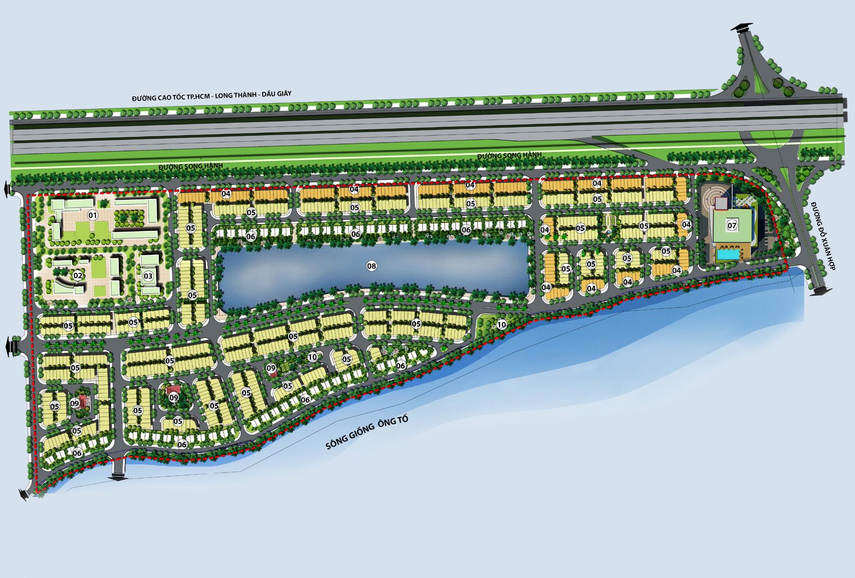 Tổng thể dự án Lakeview City quận 2