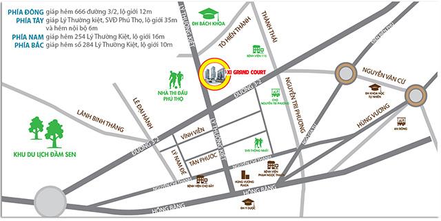 Vị trí dự án căn hộ Xi Grand Court Quận 10
