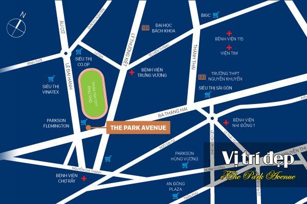 Vị trí dự án The Park Avenue