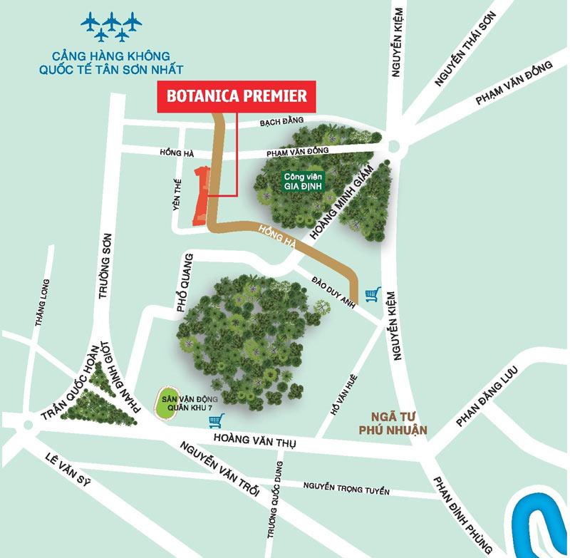Sơ đồ dự án Botanica Premier