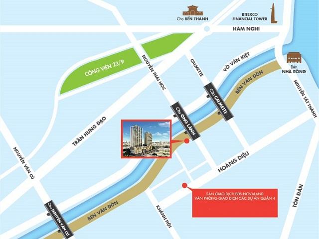 Vị trí hoàn hảo River Gate Residence Quận 4