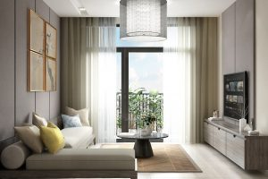 Phòng khách căn hộ Hà Đô Centrosa quận 10