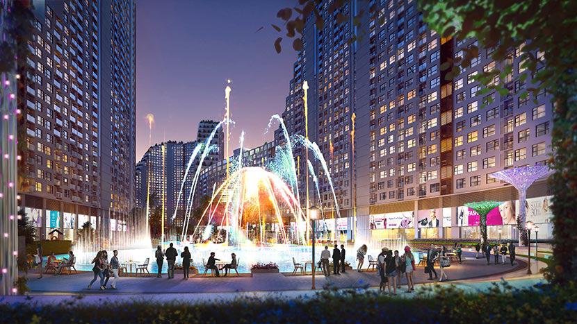 Quảng trường nước và ánh sáng River City