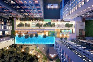 Hồ bơi căn hộ Hà Đô Centrosa Quận 10