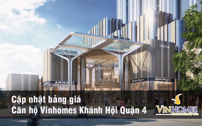 Bảng giá Vinhomes Khánh Hội