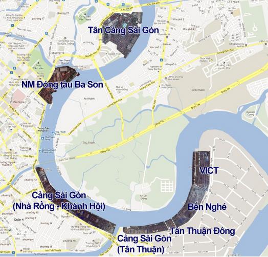 Vị trí dự án Vinhomes Khánh Hội cảng Nhà Rồng