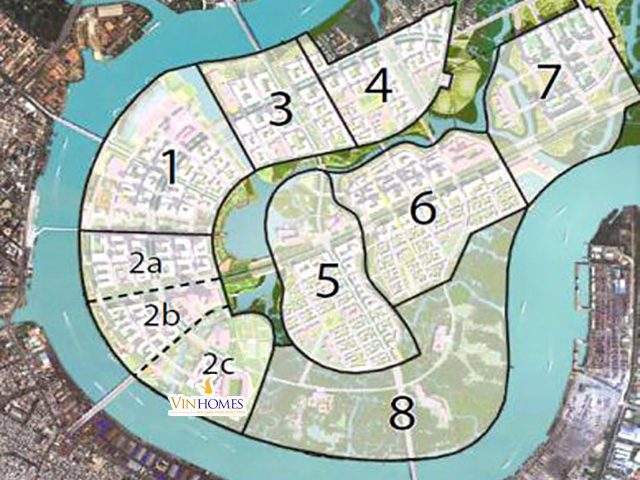 Sơ đồ quy hoạch tiện ích khu đô thị Thiêm