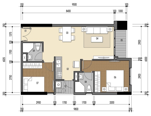 Thiết kế căn hộ Luxriverview