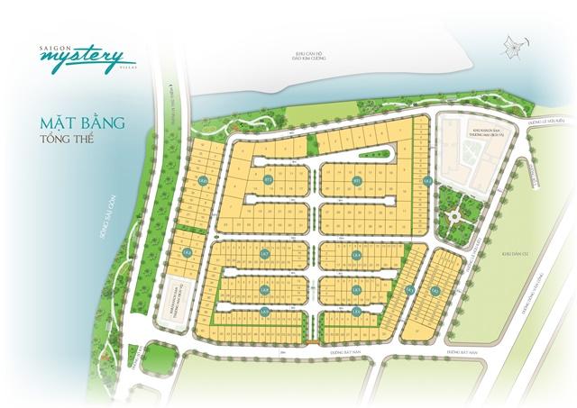 Mặt bằng tổng thể dự án Sài Gòn Mystery Villas Quận 2