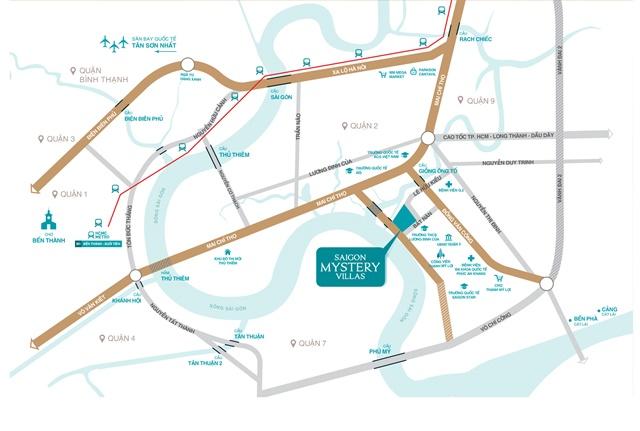 Vị trí Sài Gòn Mystery Villas Quận 2