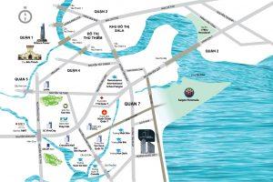 Vị trí để biết đi đường nào đến dự án Saigon Panorama q7