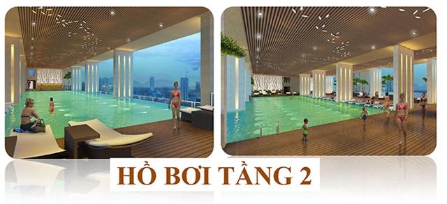 Hồ bơi nội khu căn hộ chuyển nhượng Botanica Tân Bình