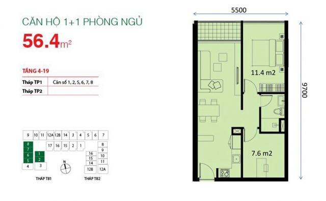 chuyen nhuong can ho Botanica Tan Binh 1PN