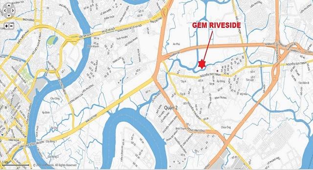Vị trí căn hộ Gem Riverside quận 2 của Đất Xanh