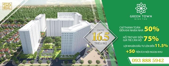 Bảng giá block B2 Green Town cạnh tranh nhất quận Bình Tân