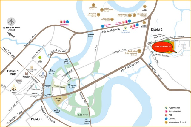 vị trí căn hộ Gem Riversdie Quận 2