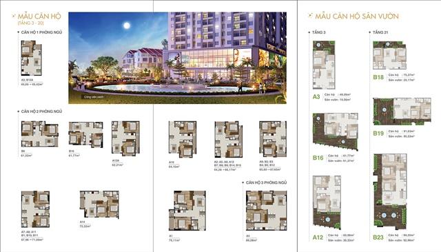 Mặt bằng căn hộ dự án Lavita Charm