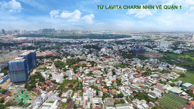 View từ dự án LavitaCharm đến Quận 1