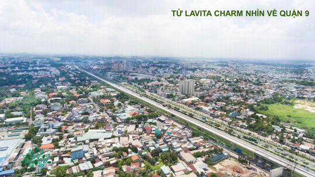 View từ dự án LavitaCharm đến Quận 9