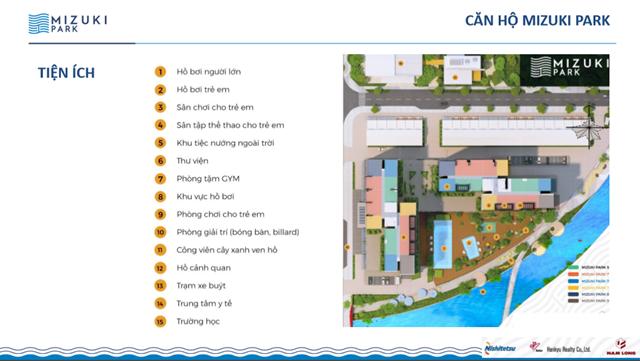 tiện ích dự án căn hộ mizuki park bình chánh