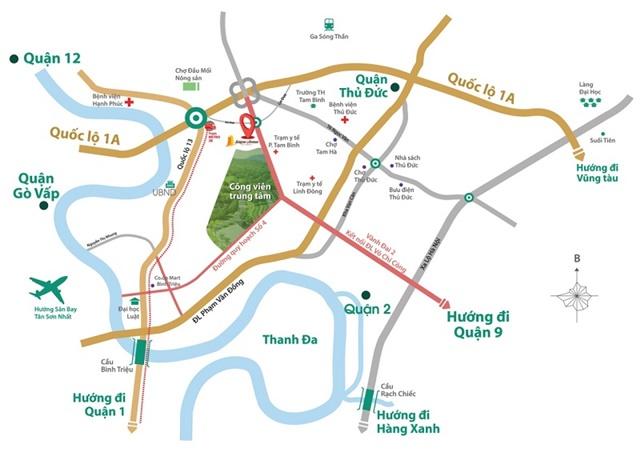 Vị trí dự án Sài Gòn Avenue
