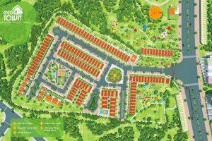 Mặt bằng tổng thể - Giá bán đất nền Nam Phong Eco Town
