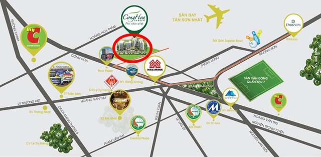Vị trí và tiện ích ngoại khu xung quanh dự án Cộng Hòa Garden - Tân Bình