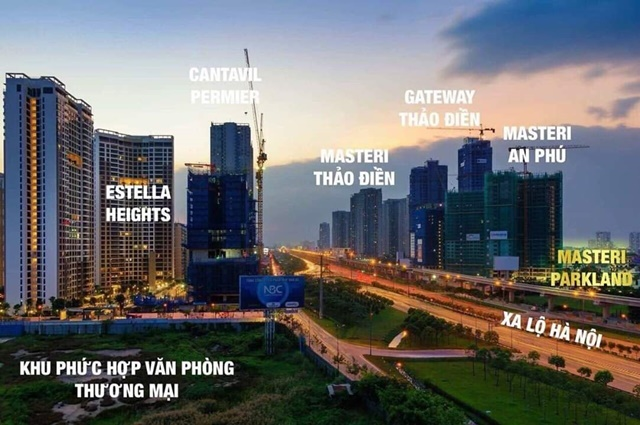 Masteri Parkland lies in the economic zone where many projects has already been established