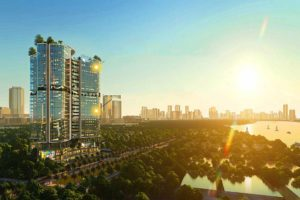 Define apartment project in District 2 with view overlooking the Saigon river